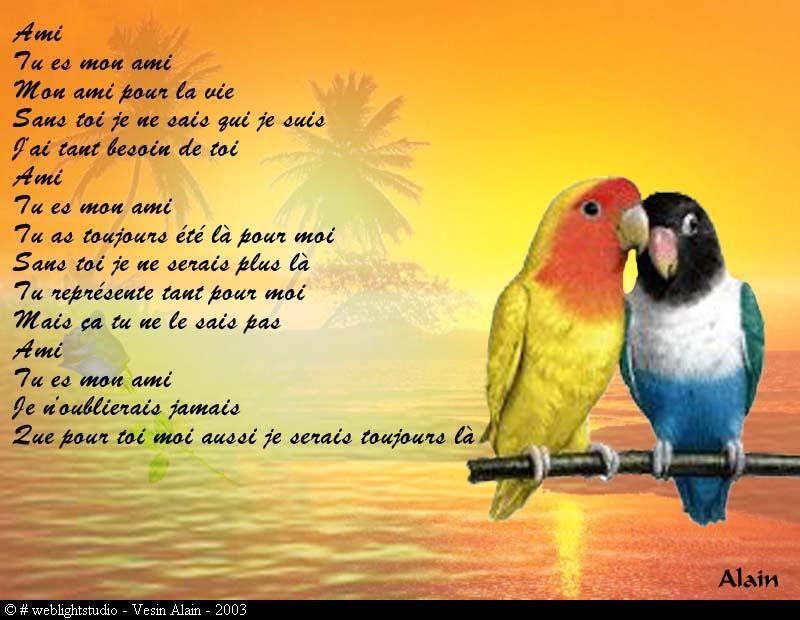Voila Un Joili Poeme Sur L Amitié